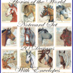 Horses of the World 20 Notecard Set