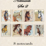 Horses of the World - Set Two - Eight Notecards with Envelopes