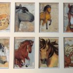 20x16 Matted Horse Collage - Slightly Imperfect Double Mat