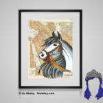 Arabian Print - 8x10 matted to 11x14 Ready To Frame Horses of the World Print