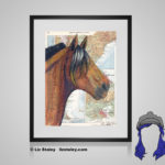 Chilean Print - 8x10 matted to 11x14 Ready To Frame Horses of the World Print