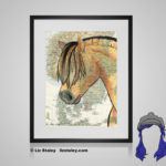 Fjord Print - 8x10 matted to 11x14 Ready To Frame Horses of the World Print