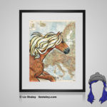 Haflinger Print - 8x10 matted to 11x14 Ready To Frame Horses of the World Print