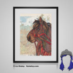 Heihe Print - 8x10 matted to 11x14 Ready To Frame Horses of the World Print