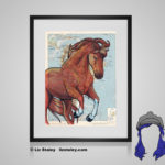 Marchador Print - 8x10 matted to 11x14 Ready To Frame Horses of the World Print