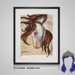 Nokota Horse Print - 8x10 matted Equestrian Art