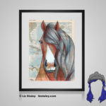 Paso Fino Print - 8x10 matted to 11x14 Ready To Frame Horses of the World Print