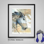 Percheron Print - 8x10 matted to 11x14 Ready To Frame Horses of the World Print