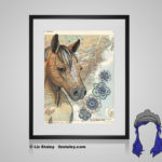 Quarter Horse Print - 8x10 matted to 11x14 Ready To Frame Horses of the World Print