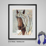 Rocky Mountain Horse Print - 8x10 matted to 11x14 Ready To Frame Horses of the World Print