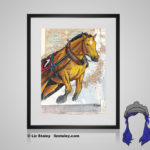 Ban'ei Horse Print - 8x10 matted to 11x14 Ready To Frame Horses of the World Print