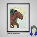 Thoroughbred Print - 8x10 matted to 11x14 Ready To Frame Horses of the World Print