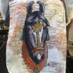 Marwari Horse on Map Canvas Tote Bag with Printed Handles