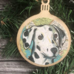 Dalmatian Dog Christmas Ornament Wood Tree Ornament with Jute Hanger