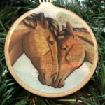 Brumby Horse Wooden Christmas Ornament