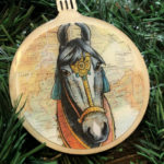 Marwari Horse Wooden Christmas Ornament