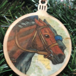 Thoroughbred Horse Wooden Christmas Ornament