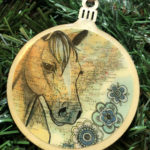 Quarter Horse Wooden Christmas Ornament