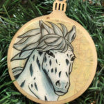 Appaloosa Horse Wooden Christmas Ornament