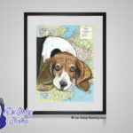Basset Hound - 8x10 matted to 11x14 Ready To Frame Dogs of the World Print