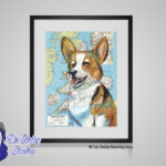 Welsh Corgi - 8x10 matted to 11x14 Ready To Frame Dogs of the World Print