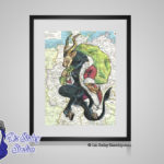 Krampus Matted 8x10 Print - German Christmas Demon