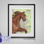Tennessee Walking Horse - 8x10 matted to 11x14 Ready To Frame Horses of the World Print