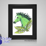 Emerald May Birthstone Lily of the Valley - 8x10 matted to 11x14 Ready To Frame Horse Art Print