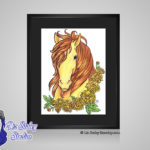 Topaz November Birthstone Chrysanthemum- 8x10 matted to 11x14 Ready To Frame Horse Art Print