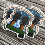 3 Inch Horse Vinyl Sticker - Please Clean Your Hooves