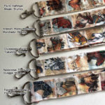 Handmade Fabric Lanyard, 18 inch fabric strap with Horses of the World Art