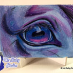 """Windows To The Soul"", Original Watercolor and Colored Pencil Art Card, Horse Eye"