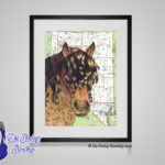 American Bashkir Curly Horse - 8x10 matted to 11x14 Ready To Frame Horses of the World Print