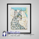Egyptian Mau Cat Print – 8×10 matted Cat Lover Art