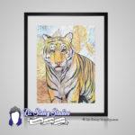 Siberian Tiger Big Cat Print – 8×10 matted Animal Art