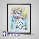 White Tiger Big Cat Print – 8×10 matted Animal Art
