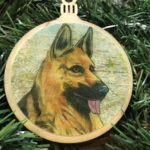 German Shepherd Wooden Christmas Ornament