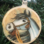 Arabian Horse Wooden Christmas Ornament