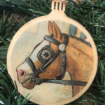 Clydesdale Horse Wooden Christmas Ornament