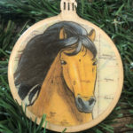 Mustang Horse Wooden Christmas Ornament