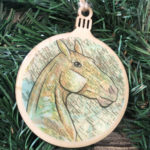 Akhal-teke Horse Wooden Christmas Ornament