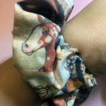 Horse Hair Scrunchie Handmade with Cotton Fabric
