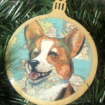 IMPERFECT - Welsh Corgi Wooden Christmas Ornament