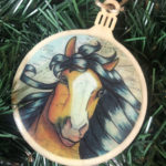 Barb Horse Wooden Christmas Ornament