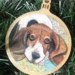 Basset Hound Wooden Christmas Ornament