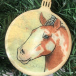 Paint Horse Wooden Christmas Ornament