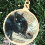 Gypsy Vanner Horse Wooden Christmas Ornament