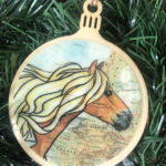 Haflinger Horse Wooden Christmas Ornament