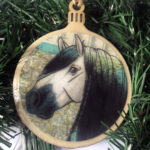 Andalusian Horse Wooden Christmas Ornament