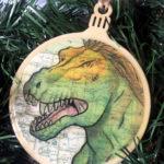 Tyrannosaurus Dinosaur Wooden Christmas Ornament